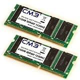 1024MB SODIMM SDRAM (2x 512MB Kit), PC 133 (100 e 66), per ogni m portatili