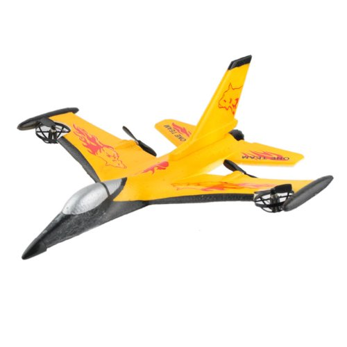 4ch Rc Remote Controlled Fighter Plane F-16 Fighting Falcon Model Durable EPP Material Yellow