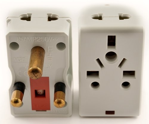 Vp 118 - Universal Usa To South Africa Plug Adapter, 2-Outlets And Fuse Protection Rohs Ce Certified