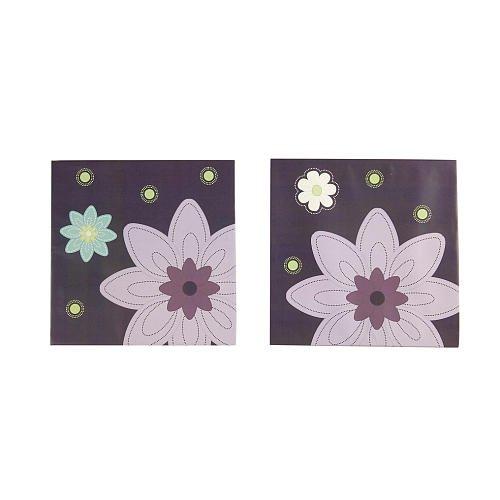 Nojo Nojo Plum Dandy 2Pc Canvas Art, Purple front-588344
