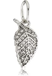 Juicy Couture Pave Leaf Charm