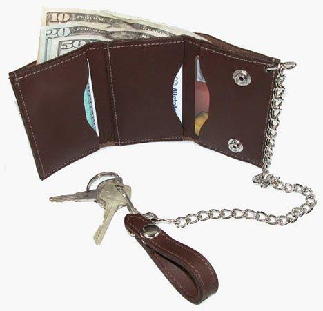 Trucker Trifold Chain Wallet (Black)