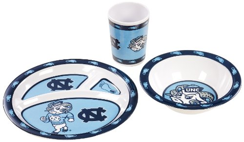 NCAA North Carolina Tar Heels Kids Dish Set - 1