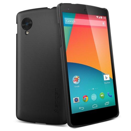 【国内正規品】Spigen Nexus 5 ケース ウルトラ フィット ECO-Friendly Packaging (スムース・ブラック【SGP10560】)