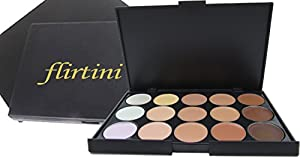 FLIRTINI 3D Look Cream Foundation and Camouflage Concealer 15 color makeup