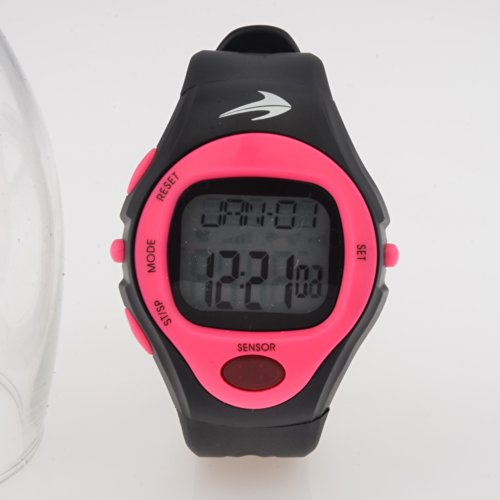 Heart Rate Monitor Watch (Pink)- Best for Men & Women – Running, Jogging, Walking, Gym Exercise, Iron Man, Cycling, Sports – Digital Timer Stop Watch, Alarm Multi Function – Reduce Stress for Healthy Lifestyle – Watch Case Included – CompressionZ