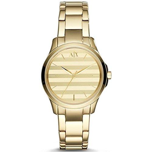Armani Exchange AX5231 36mm Gold Steel Bracelet & Case Mineral Women's Watch