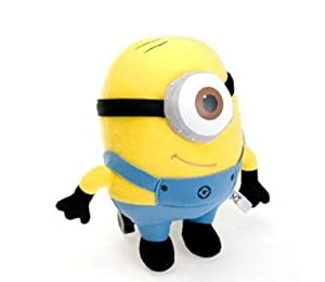 WAWO Despicable Me Minion Stewart Plush Figure Cartoon Toy Great Gift for Children and more