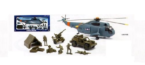 Buy Low Price New Ray Glorious Mission Navy Sea Stallion Helicopter Military Playset 1:32 Scale Figure (B004RIJK16)