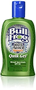 Bull Frog Water Armor Sport Quik Gel Sunscreen, SPF 50 5 fl oz (147 ml)