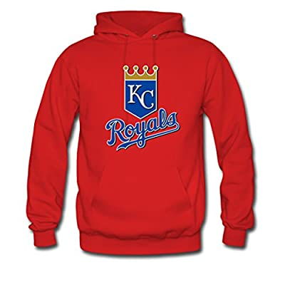 Custom Men Kansas City Royals Team Logo Hoodies Pullover Sweatshirt