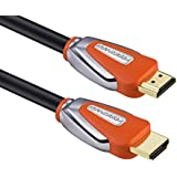 FORSPARK High Speed Ultra HDMI Cable 50ft With Ethernet Full HD Supports 4K 3D 1080p Full HD Latest Version Orange Case