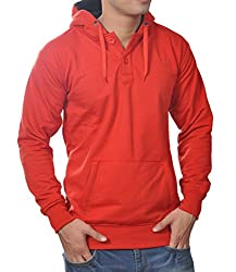 Vibgyor Full Sleeve Hooded Men's Premium Red Sweatshirt