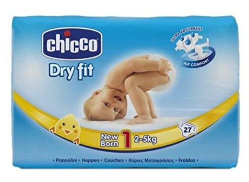 Chicco, Pannolini per neonati Dry Fit, 2-5 kg, 1 confezioni da 27 pezzi
