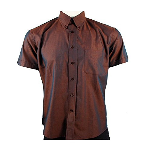 Warrior Copper Higson Short Sleeve Tonic 2Tone Mod/Skin Shirt S - 4XL (Mod Clothing compare prices)