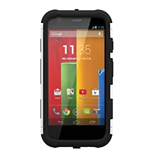 Trident Aegis Series Case for Motorola Moto G - Retail Packaging - White