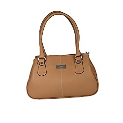 Hide Bulls Casual Leather Handbags For Women in Color Brown