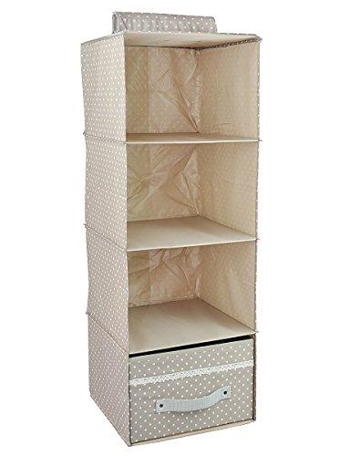hanging wardrobe collapsible closet storage 4 shelf. Black Bedroom Furniture Sets. Home Design Ideas