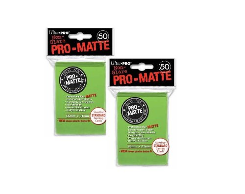 Ultra Pro PRO-MATTE (100 Count) Lime Green Deck Protector Sleeves - Magic the Gathering