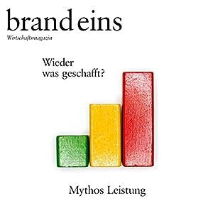 brand eins audio: Leistung Hörbuch