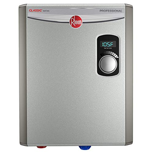 Rheem 240V 2 Heating Chambers RTEX-18 Residential Tankless Water Heater, small, GREY (Color: Gray, Tamaño: Small)