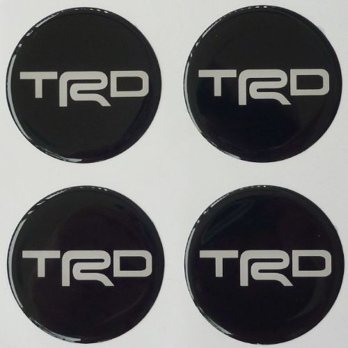 Toyota TRD 52 Cm Black Resin Sticker Decals Center Wheel Caps Cover Hub Rim (Trd Resin compare prices)