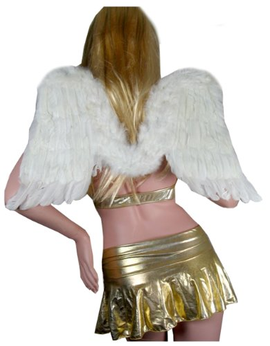 SACAS White Feather Angel Fairy Wings For Halloween Party