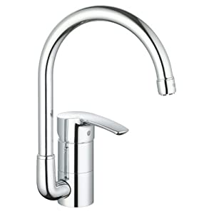 Grohe 33986001 eurostyle kitchen faucet starlight chrome tools home improvement - Grohe kitchen faucets amazon ...