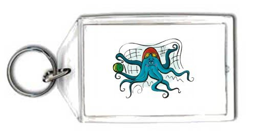 Keychain with water, octopus, polo, goalkeeper, sport, animal