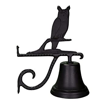 Montague Metal Products Cast Bell with Black Owl by Montague Metal Products