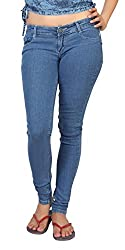 Carrel Bring In Stretchable Denim Fabric Medium Blue Colour Slim Fit Jeans For Womens