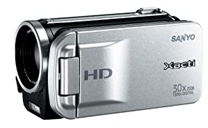 Sanyo VPC-TH1 HD Compact Flash Memory Camcorder w/ 30x Optical Zoom (Silver)