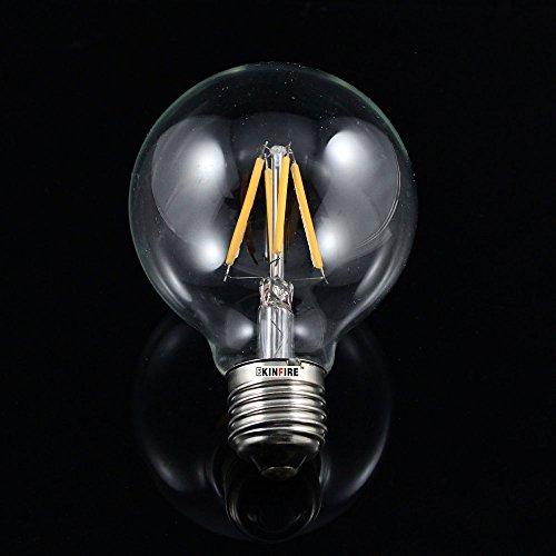 niceeshop(TM) Vintage 4 LED E27 4W 300lm 3000K Blanca Cálida Luz de Lámpara Bombilla de Ahorro de Energía( Plata y...