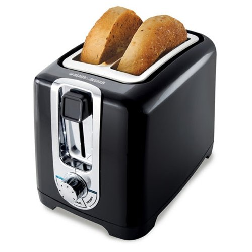 Black & Decker TR1256B 850-Watt 2-Slice Toaster with Bagel Function, Black/Silver (Burnt Toaster compare prices)