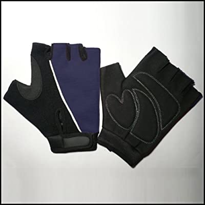 Blue / Black Amara Cycling / Gym Training Gloves Ultra Light Weight *xl* by Solid-Fitness