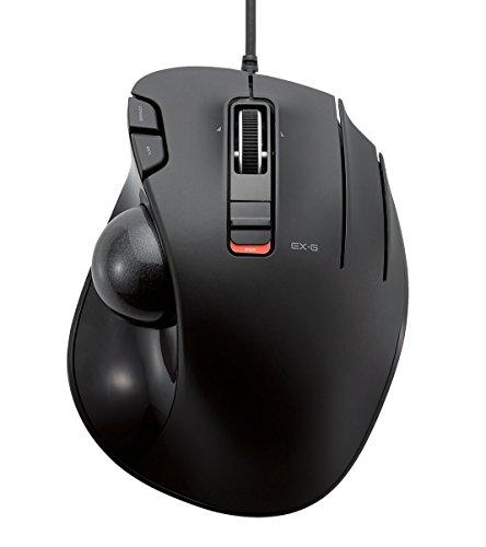 ELECOM マウス トラックボール 有線 6ボタン ブラック M-XT3URBK