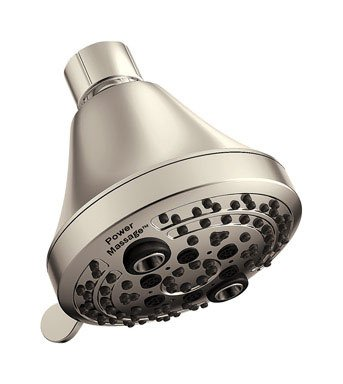 Oxygenics 52323 Brushed Nickel Power Eco-friendly 1.75 GPM 5 Spray Handheld Showerhead from the Power Collection PowerMassage Showerhead