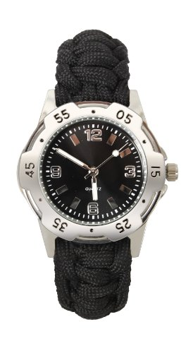 Rothco Paracord Bracelet Watch in Black - 8 Inch