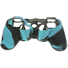MagiDeal Magideal Silicone Protective Skin Case FOR Sony PS2 PS3 Controller Black Blue