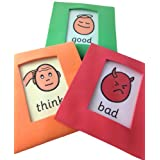 Soft Early Intervention Traffic Light Visual Aid Cards Cards (AAC, ASD)by BSL for Kids