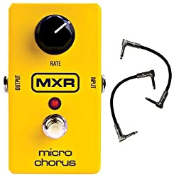 """MXR M148 Micro Chorus Guitar Effects Pedal w/2 FREE 6"""" Patch Cables from Dunlop"""