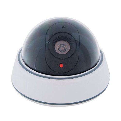 SABRE Wireless Outdoor Fake Security Dome Surveillance Camera with Flashing LED Light - DIY EASY Installation (Cameras House compare prices)