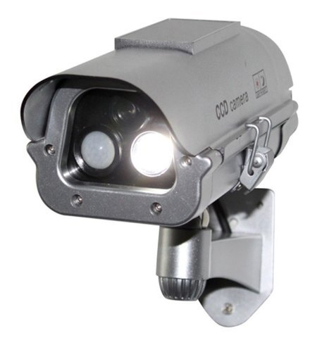 Find Cheap Solar Powered Cctv Security Fake Dummy Camera Cam with Flash Lights+human Sensor