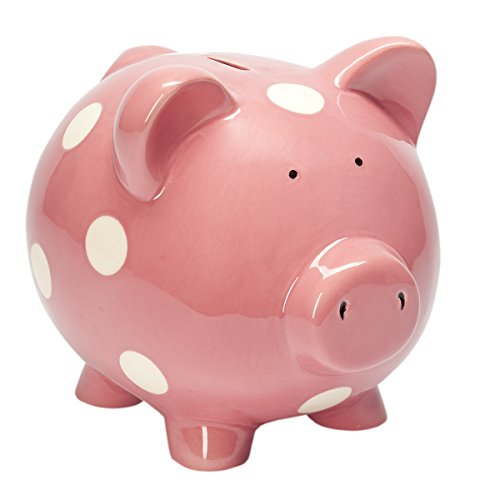 Elegant Baby Classic Dot Raspberry Piggy Bank - 1