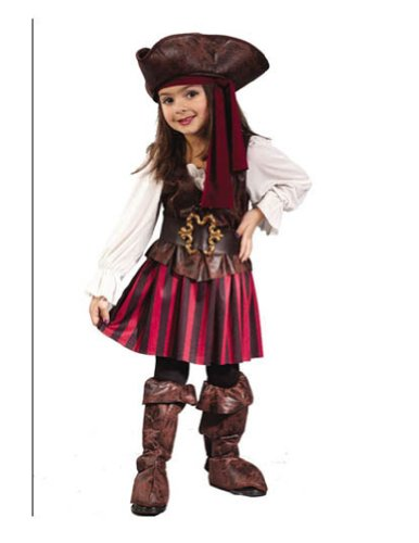 baby-girls - High Seas Pirate Toddler Costume Girl 3T-4T Halloween