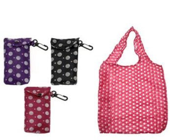 Fold Up Shopping Bag With Clip On Pouch - The handy bag!