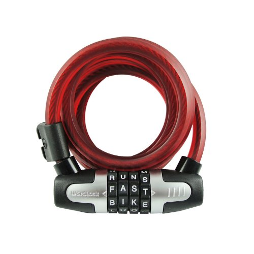 Wordlock cl 466 rd 6 feet 4 dial 12mm wlx combination bike for 4 letter bike lock