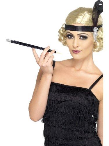 Smiffys Sequinned Cigarette Holder Black Adult - 1
