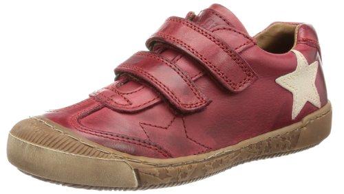 Bisgaard Schuh mit Klettverschluss Low Top Unisex-Child Red Rot (13 Rubino 13) Size: 25