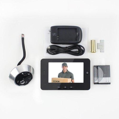 digitaler t rspion mit 4 3 display ir t rkamera berwachung mit bewegungsdetektion f r. Black Bedroom Furniture Sets. Home Design Ideas